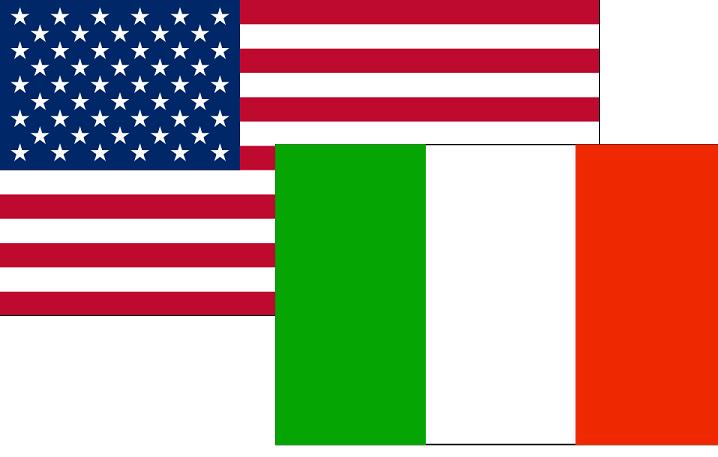 Italia-USA-Bandiera