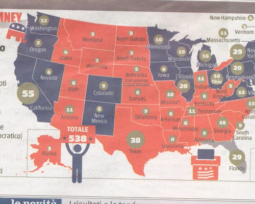 cartina elezioni Usa