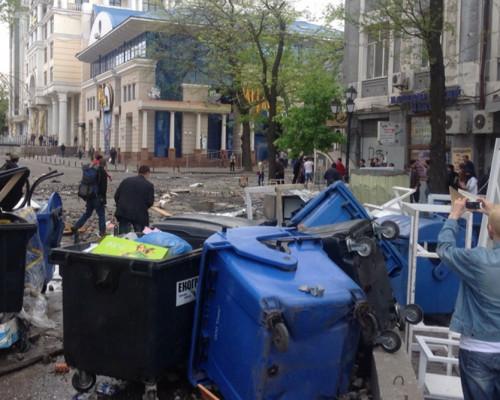 Ситуация в Одессе после массовых беспорядков